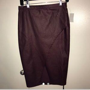 Maroon Charlotte Russe skirt